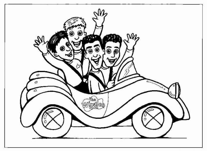 wiggles coloring page - The Wiggles Colouring Pages