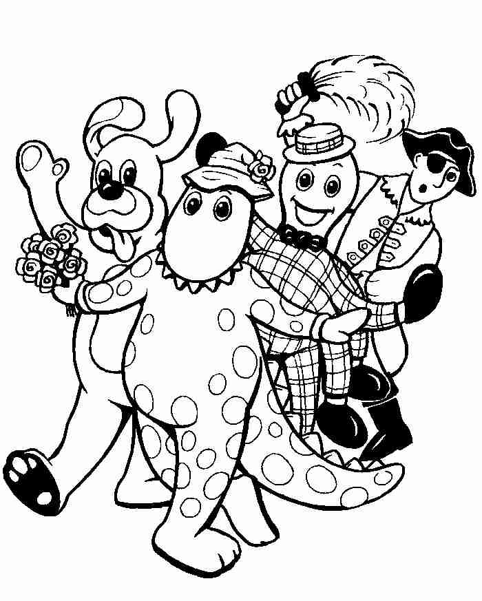 free wiggles coloring pages - photo#9
