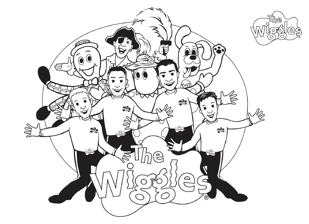 the wiggles coloring pages - free printable wiggles coloring pages for kids