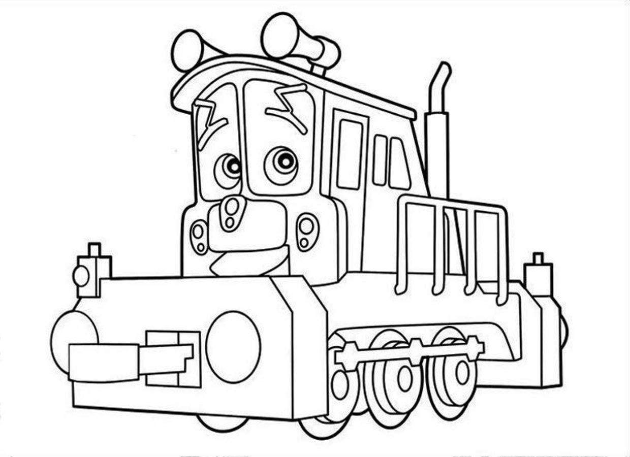 chuggington coloring page - Chuggington Wilson Coloring Pages