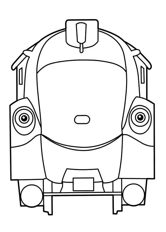 chuggington coloring pages for kids - Chuggington Wilson Coloring Pages