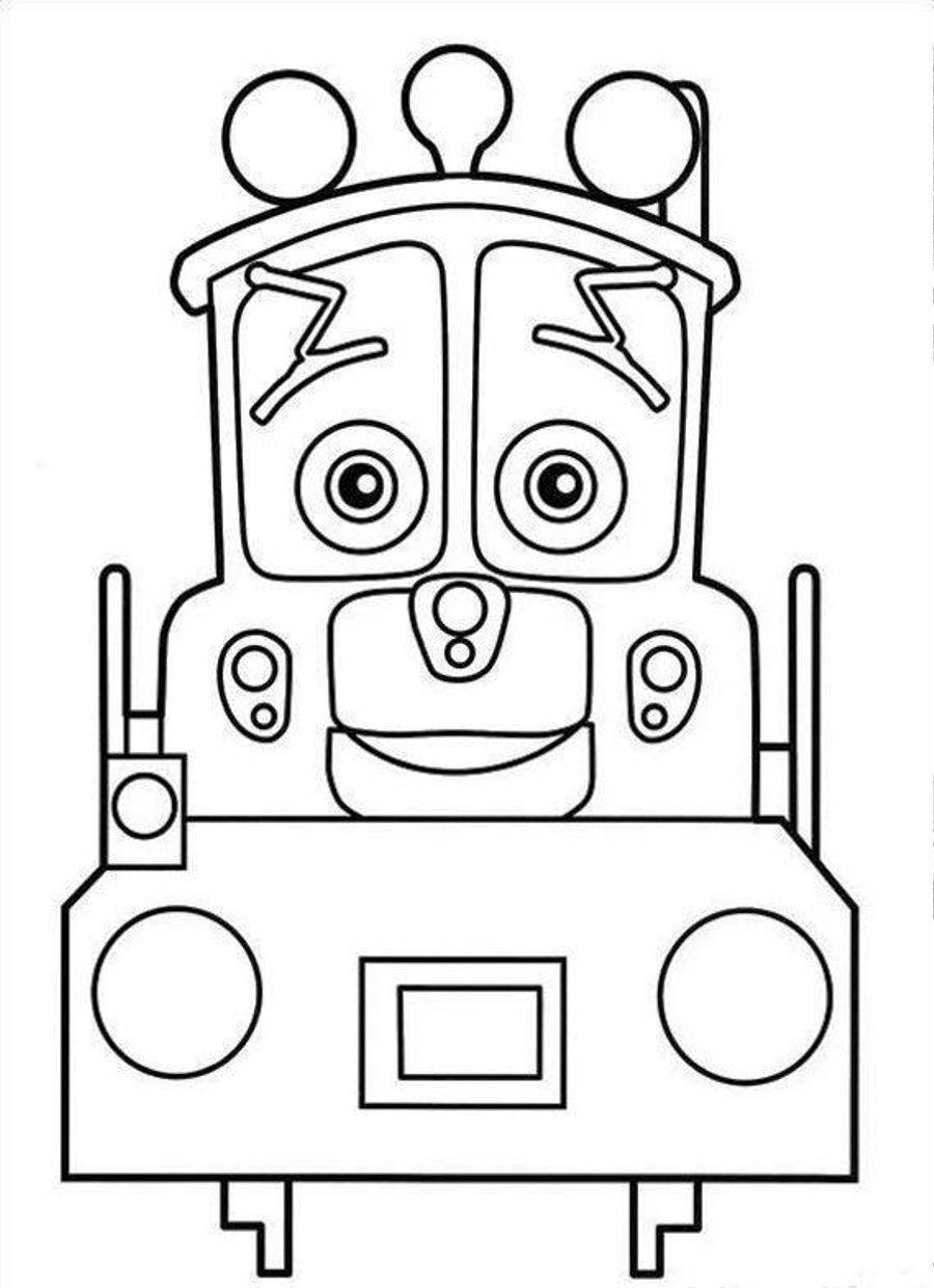 chuggington coloring pages to print - Chuggington Wilson Coloring Pages