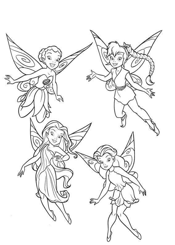tinkerbell coloring pages kids - photo#28