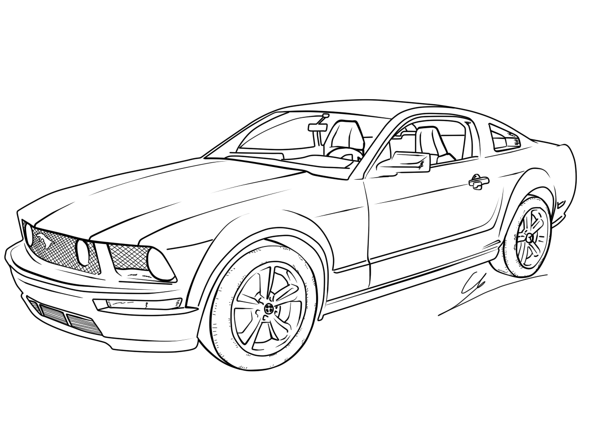Coloring Pages Mustang Car : Free printable mustang coloring pages for kids