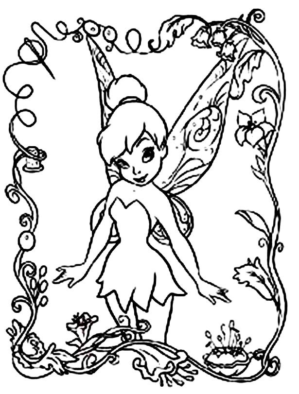 disney fairies coloring pages printable - Kids Free Coloring