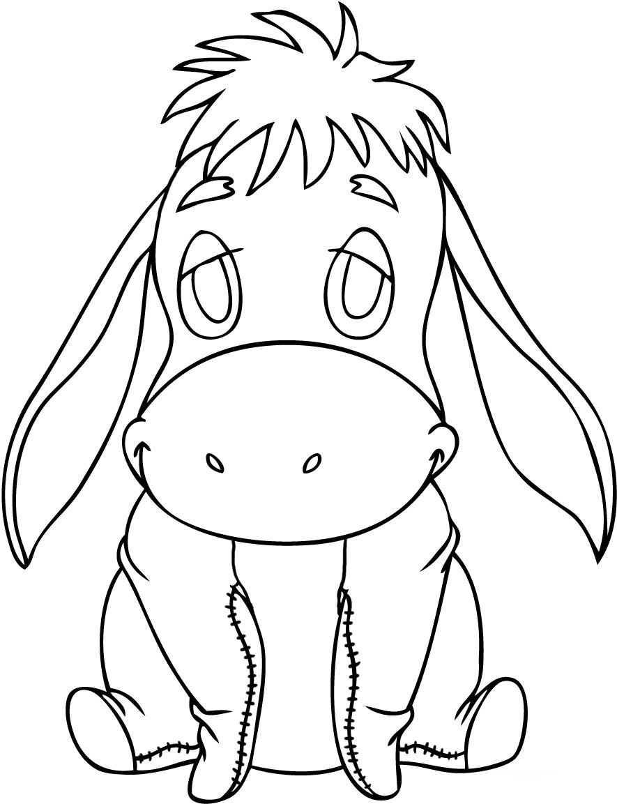 Free Printable Eeyore Coloring Pages For Kids Coloring Pages For Children