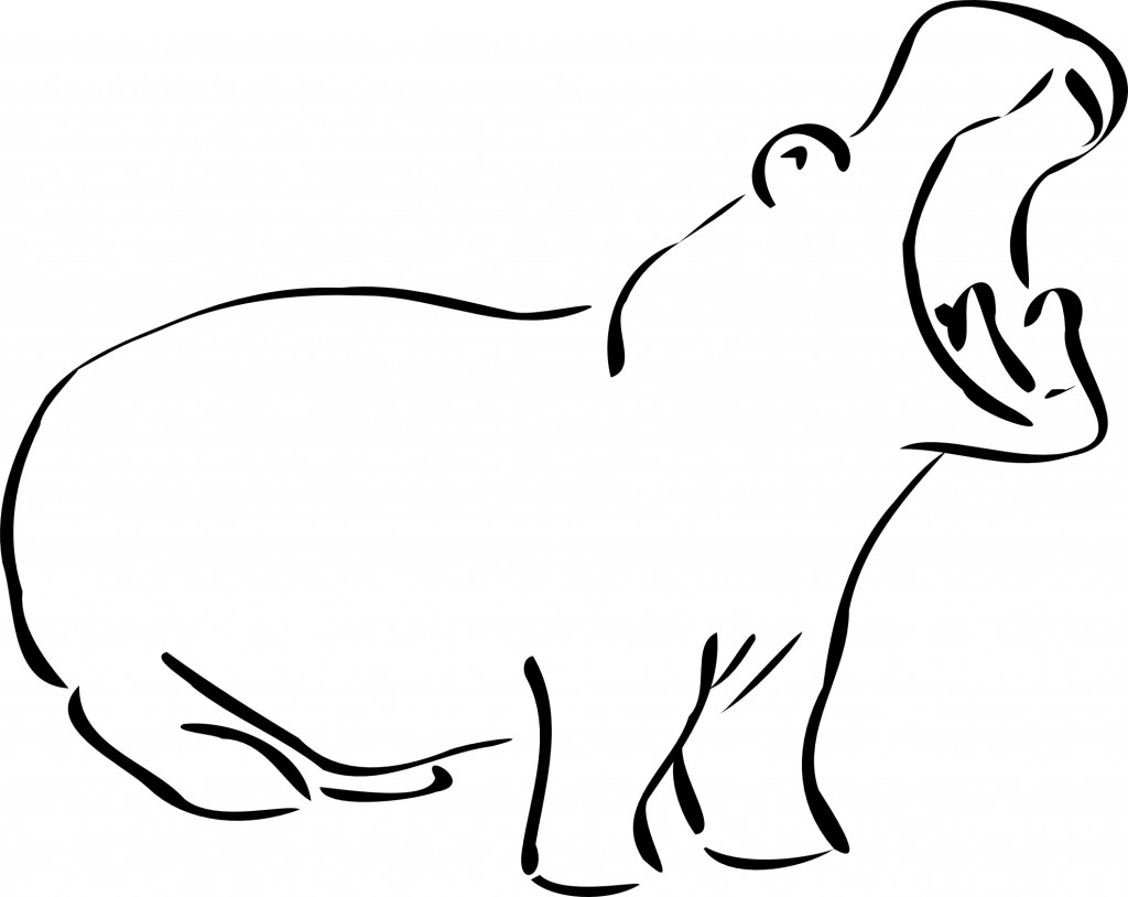hippopotamus coloring pages to print - photo#26