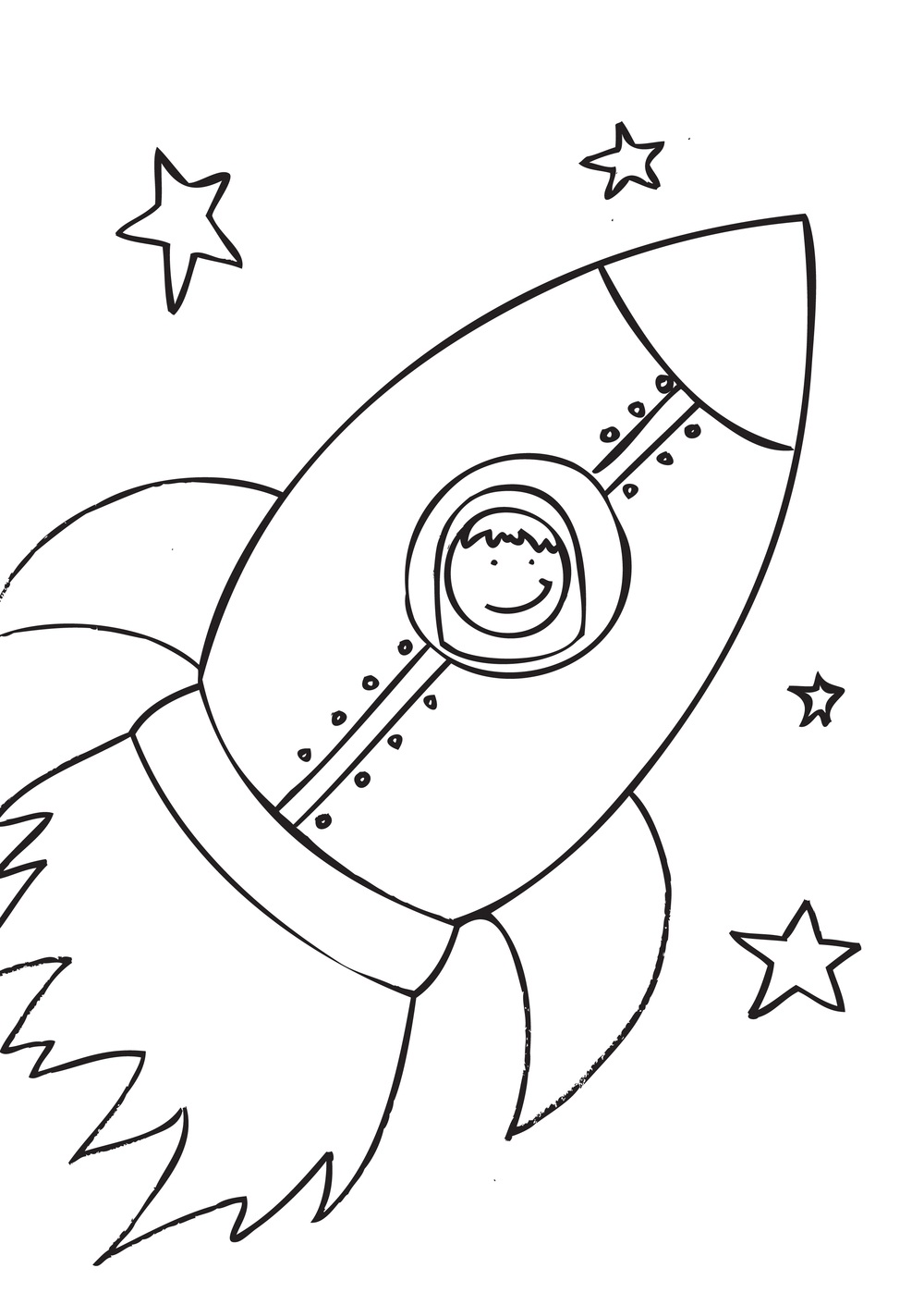 Free Printable Rocket Ship Coloring Pages For Kids