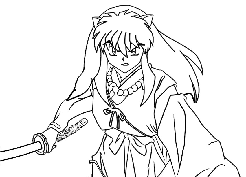 inuyasha coloring pages pictures - Inuyasha Coloring Pages