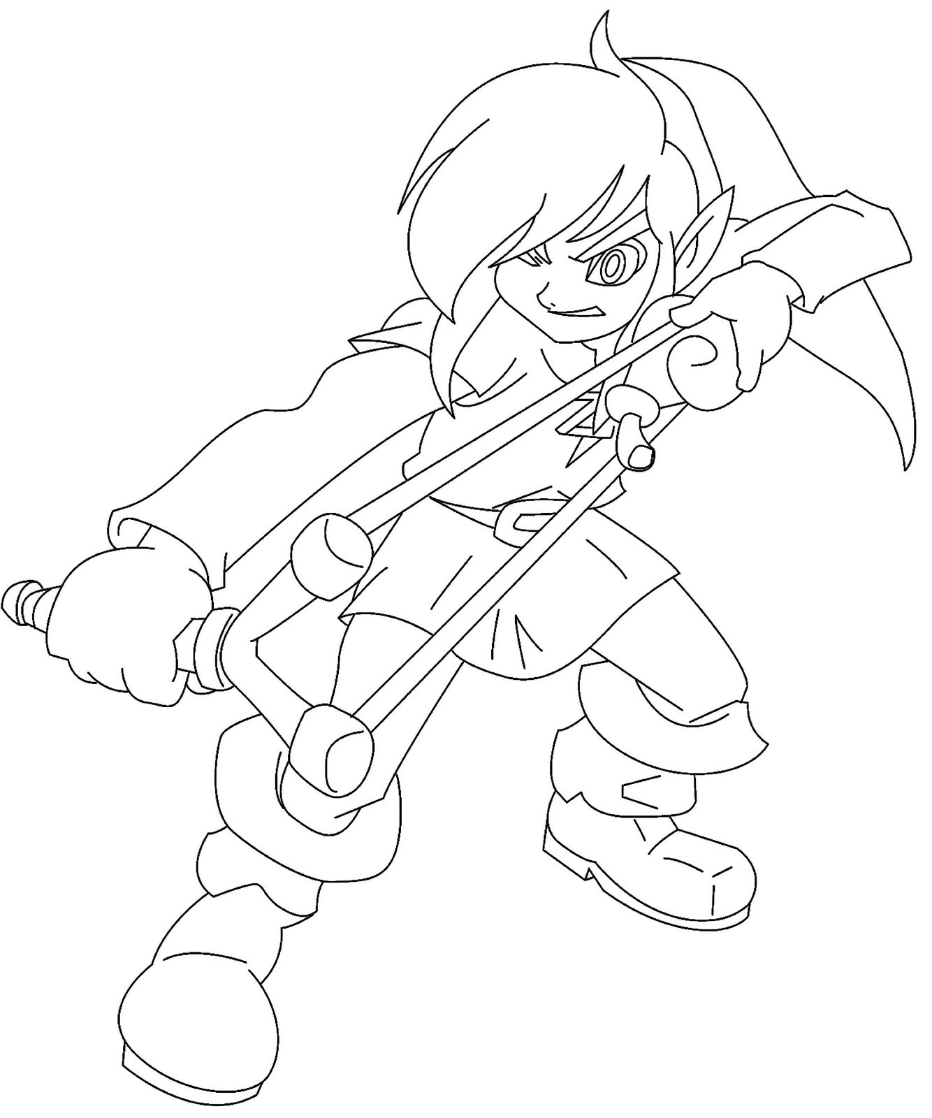 legend of zelda coloring pages - Link Coloring Pages