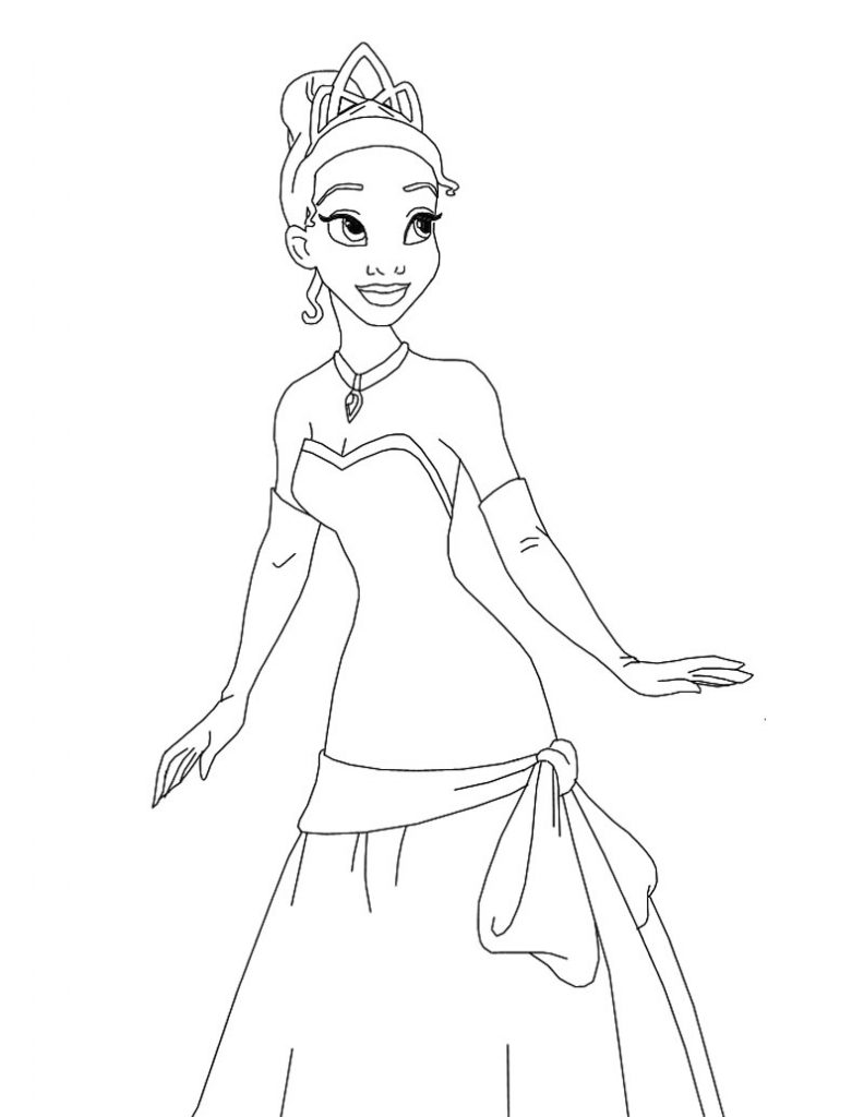 Free Printable Princess Tiana Coloring Pages For Kids Princess Coloring Paper Printable