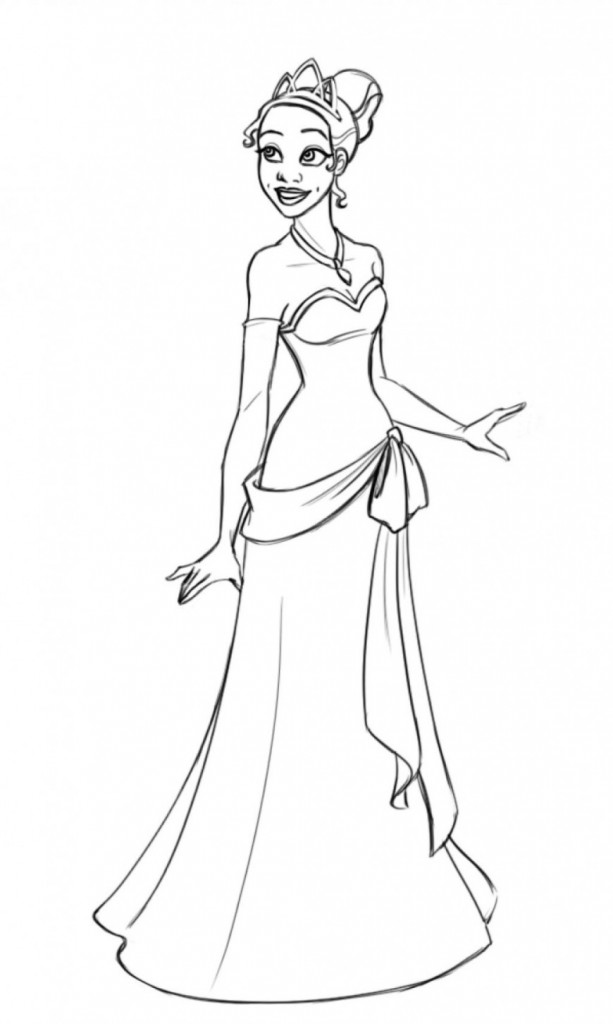Coloring Pages For Princess Tiana : Free printable princess tiana coloring pages for kids