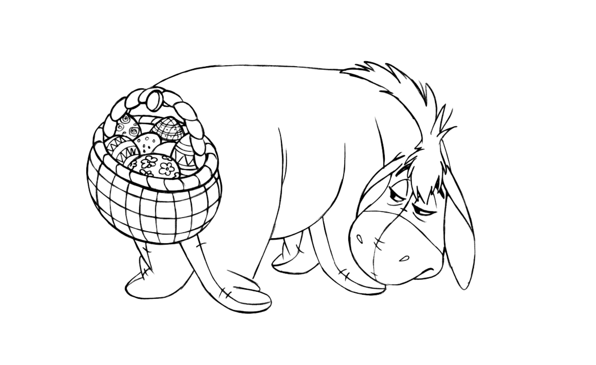 free printable eeyore coloring pages for kids