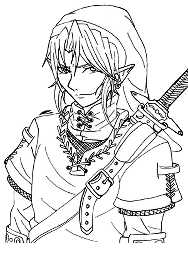 free zelda online coloring pages - photo#6