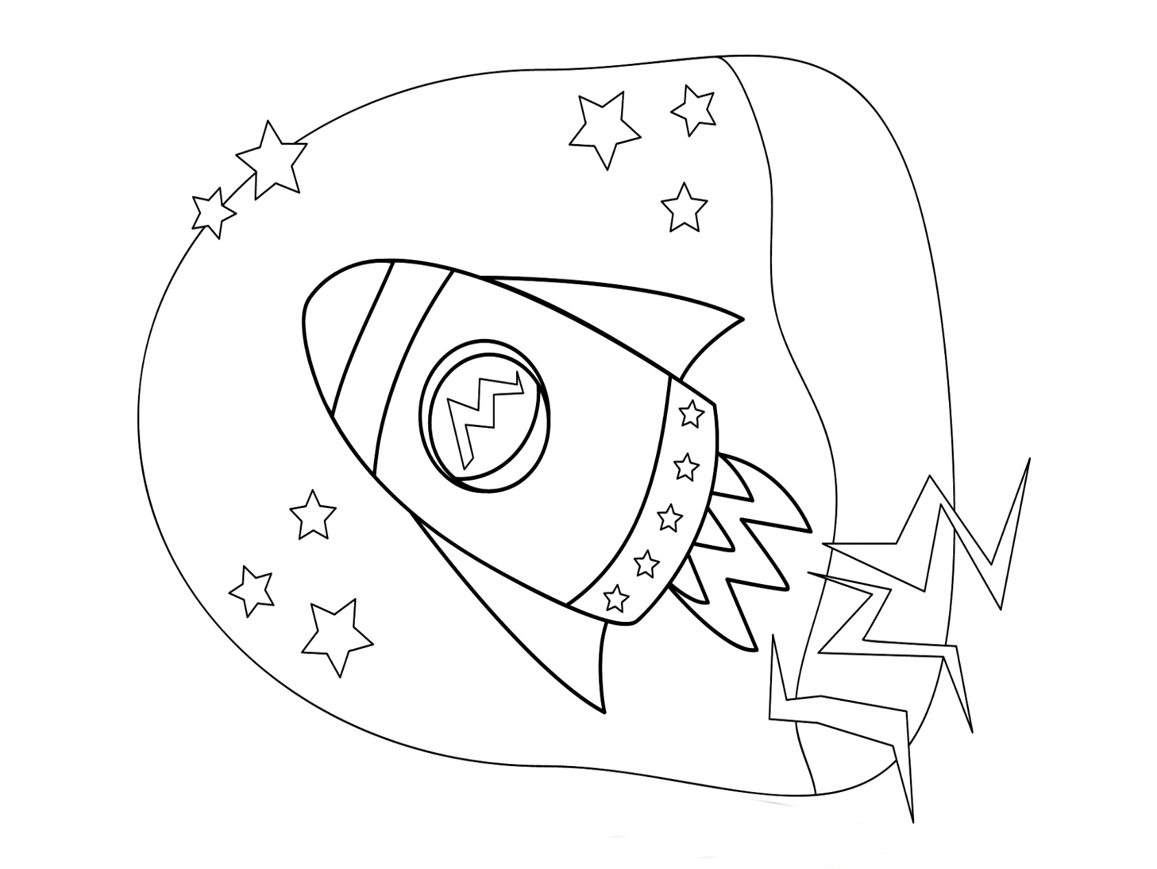 rocket ship coloring pages to print - Coloring Page Kindergarten