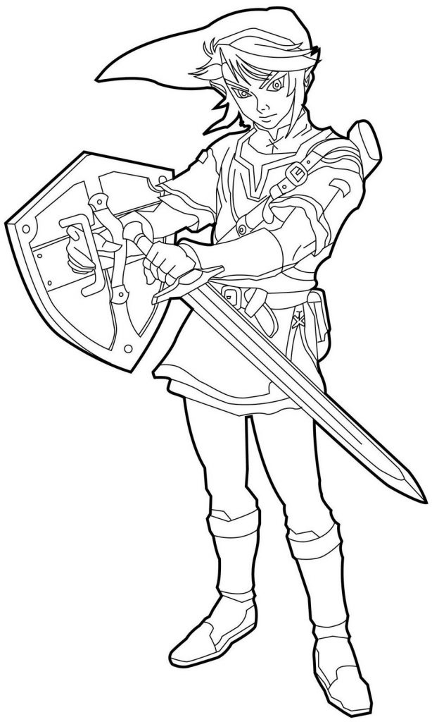 free zelda online coloring pages - photo#1