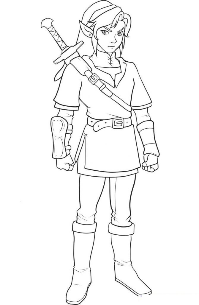 Coloring Pages Zelda : Free printable zelda coloring pages for kids