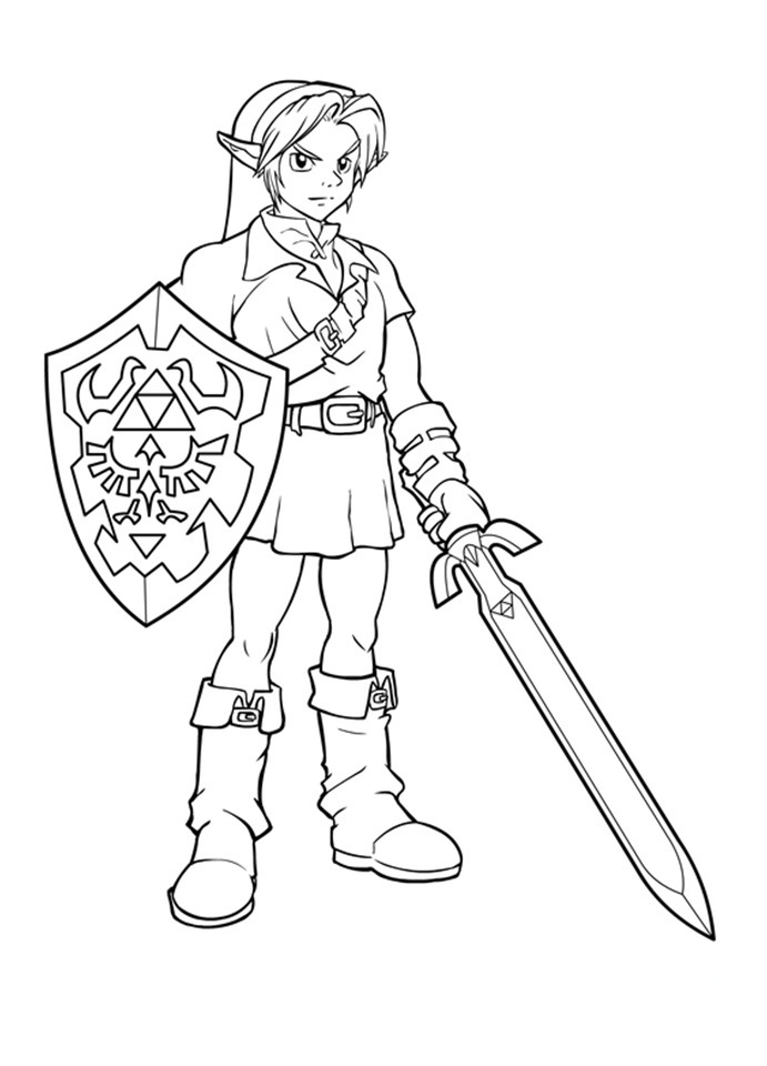 Zelda Coloring Pages Delectable Free Printable Zelda Coloring Pages For Kids Design Ideas