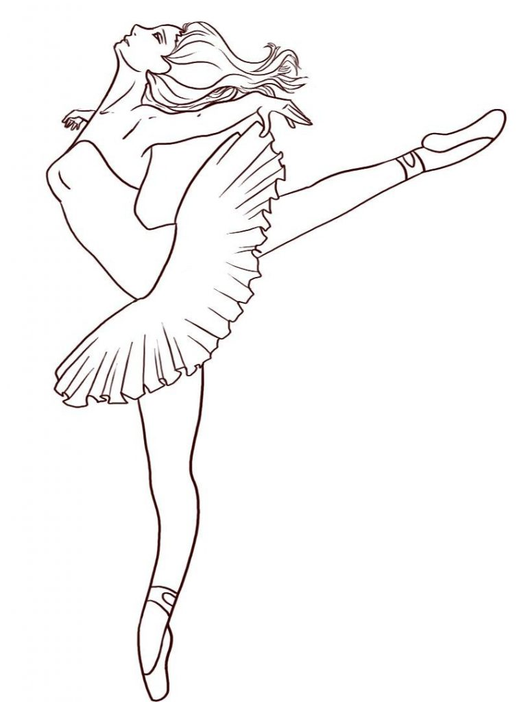 Coloring Pages For Youth : Free printable ballet coloring pages for kids