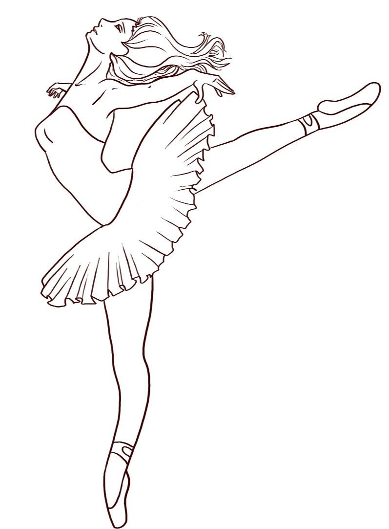 Free printable ballet coloring pages for kids Free sketching online