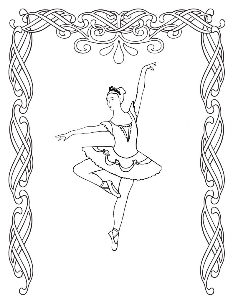 ballerina coloring pages free - photo#33