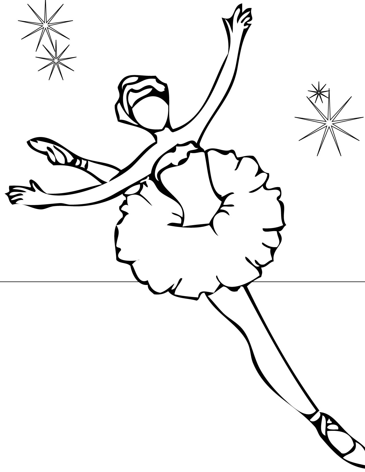 Ballet Coloring Pages To Print