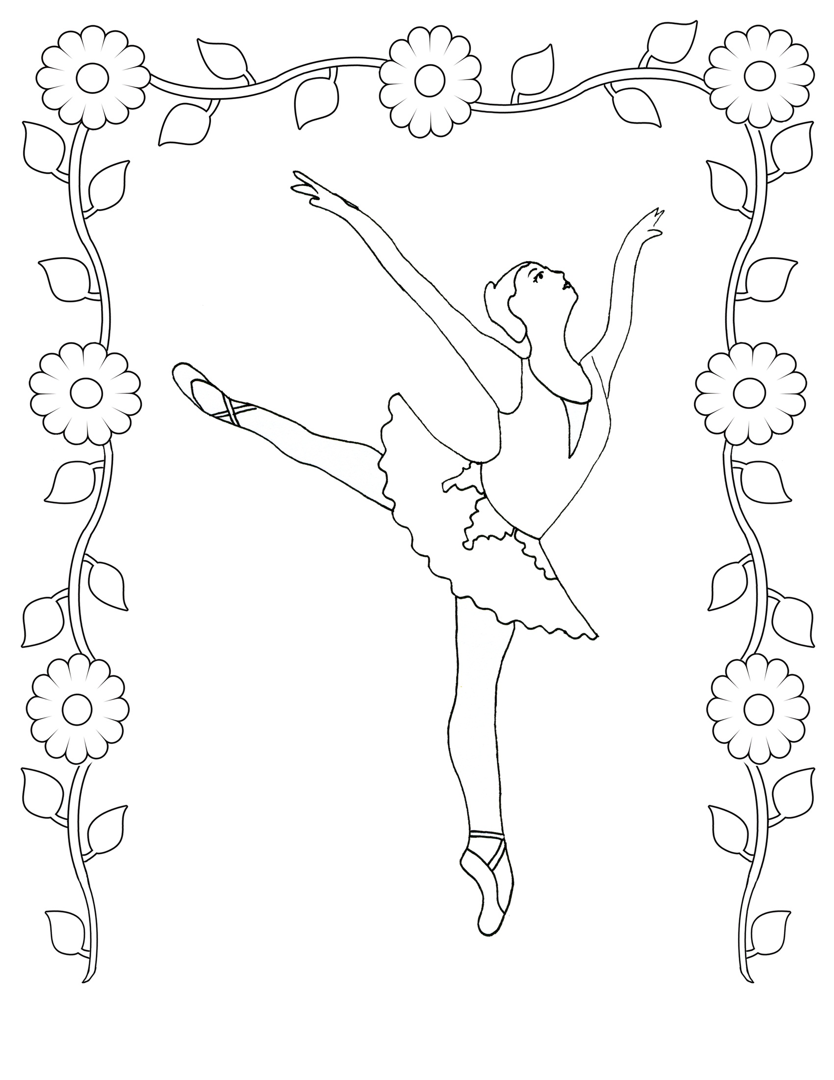 ballerina coloring sheet