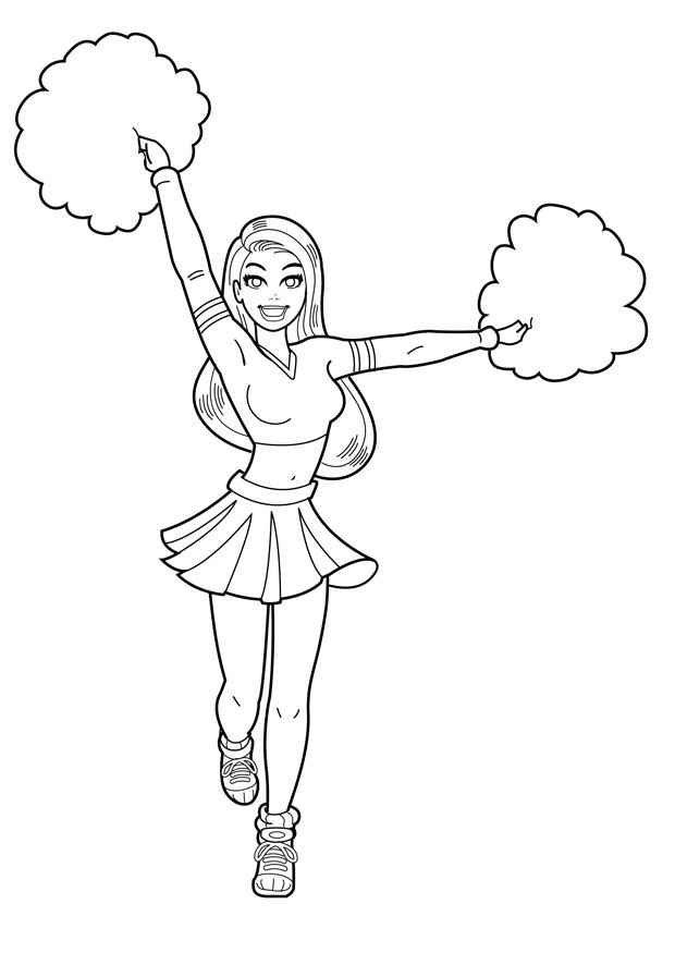 cheerleading coloring pages for grils - photo#1