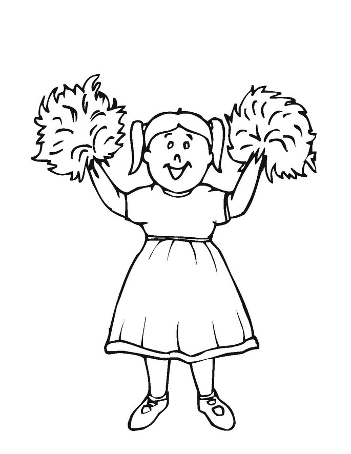 cheerleaded coloring pages - photo#13