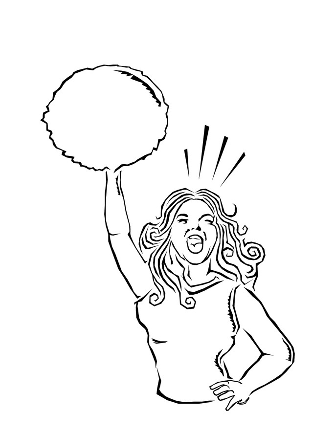 cheerleaded coloring pages - photo#30