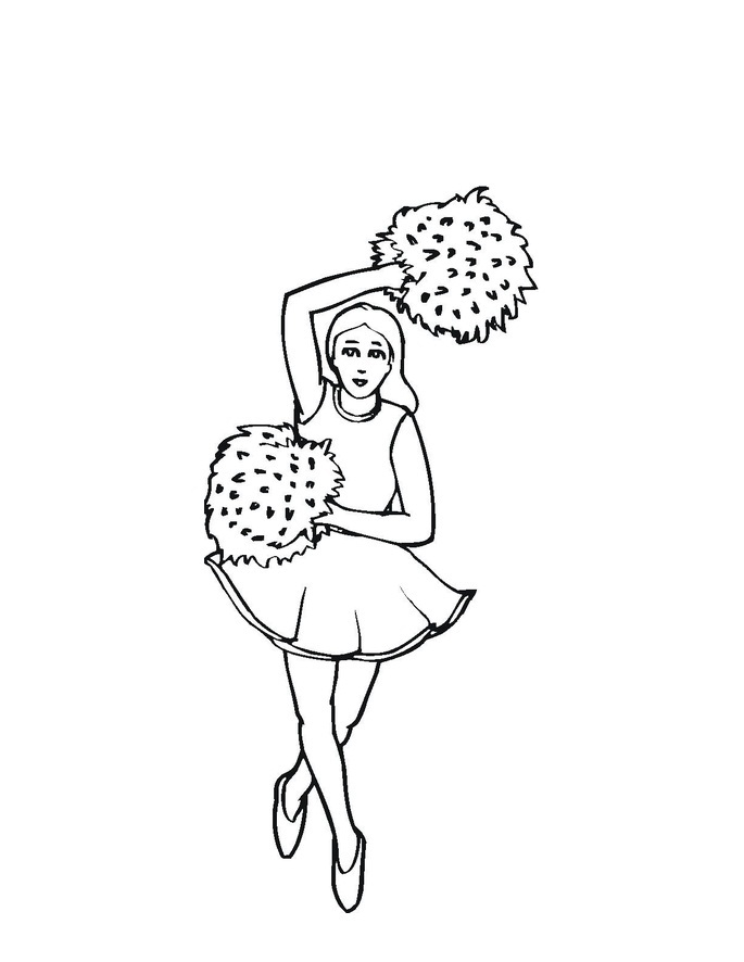 cheerleaded coloring pages - photo#20
