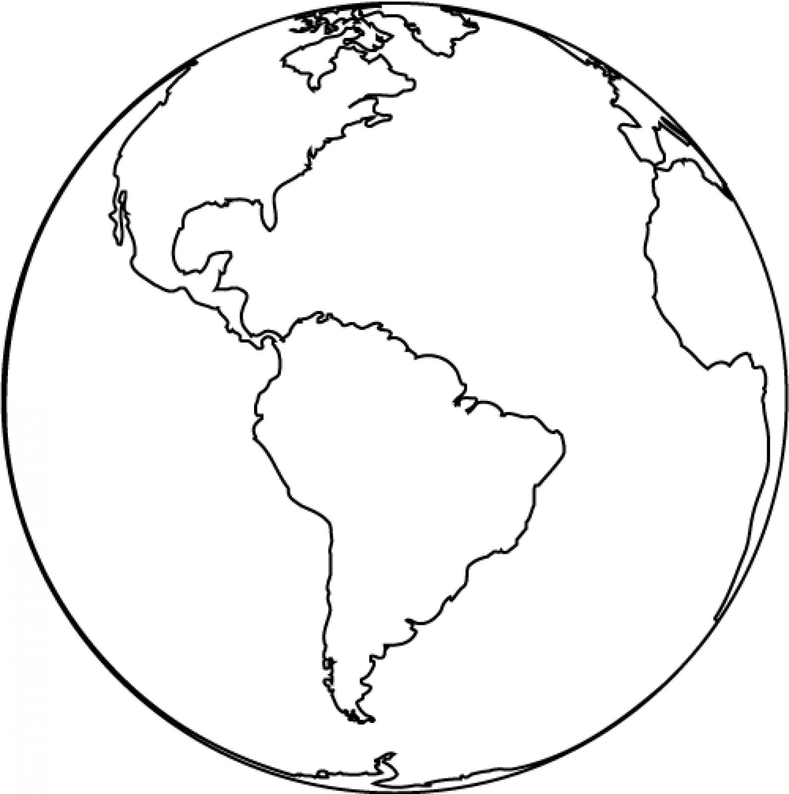 Line Drawing Earth : Free printable earth coloring pages for kids