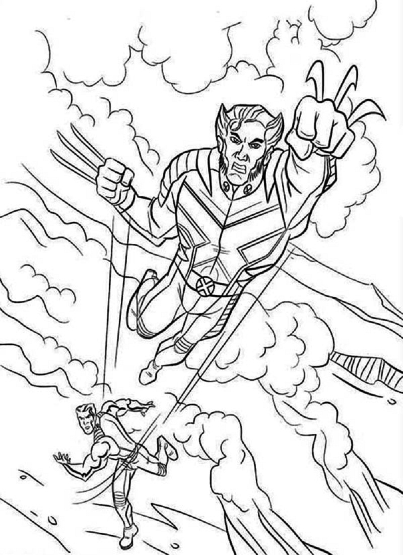 Printable coloring pages for guys ~ Free Printable X Men Coloring Pages For Kids