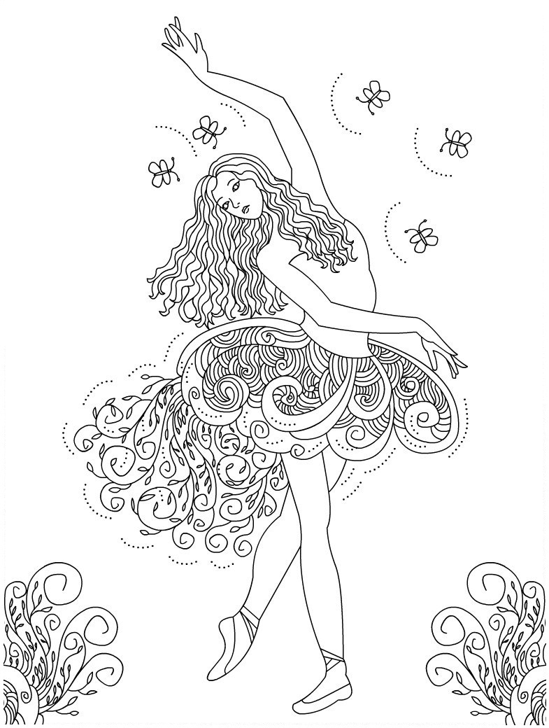 free printable coloring pages dancers - photo#8