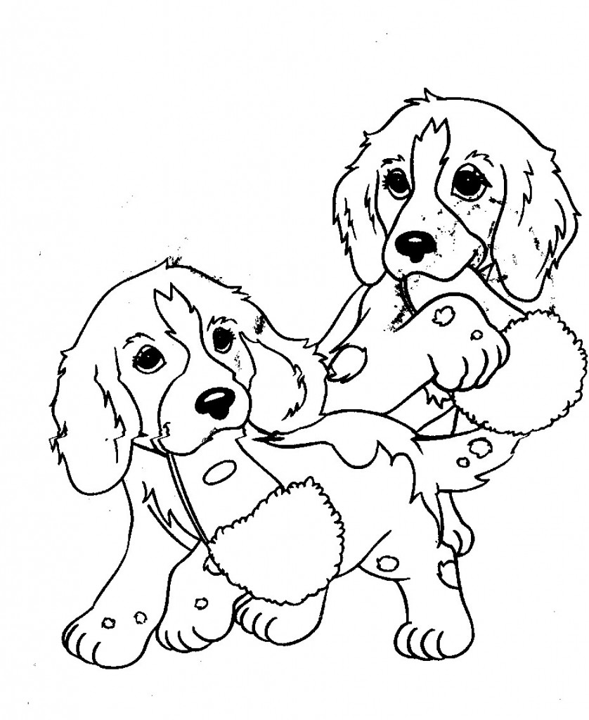 puppies coloring pages free-#18