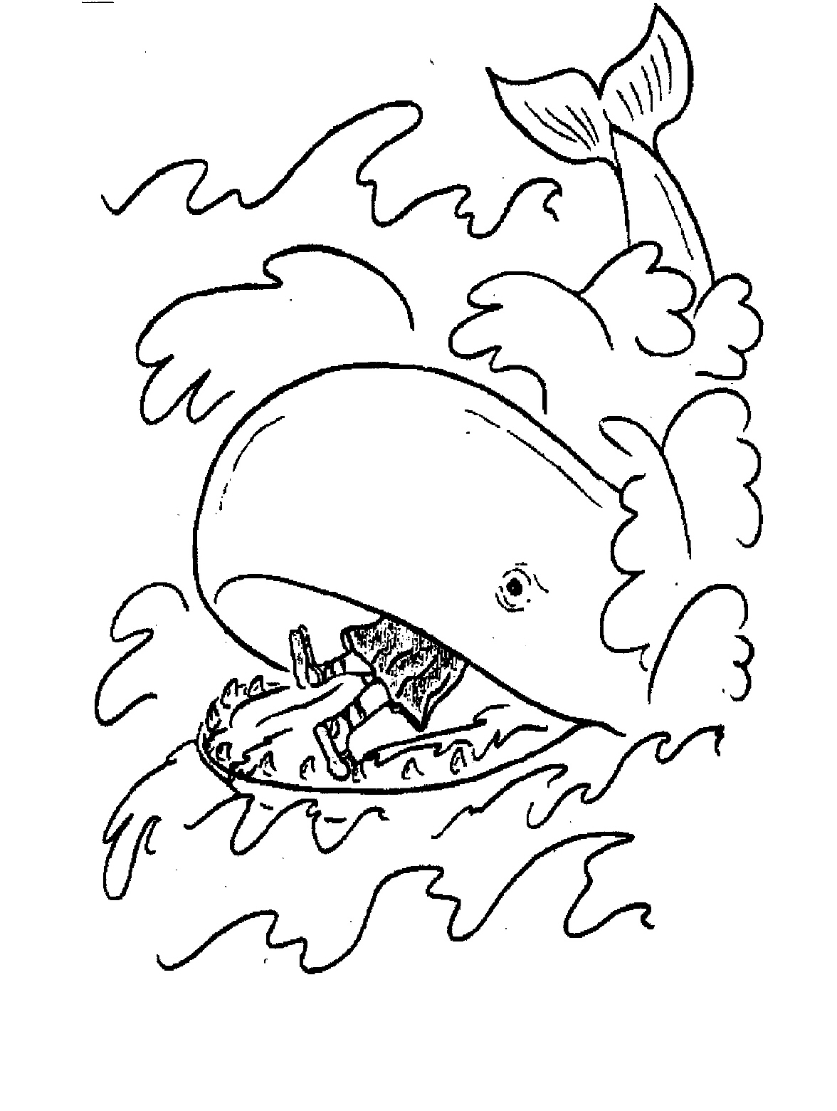 Free bible story coloring pages for kids - Coloring Pages Of Jonah And The Whale