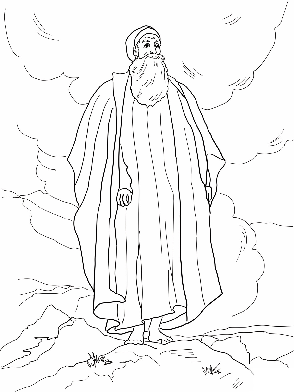 moses in bulrushes coloring pages - photo#21