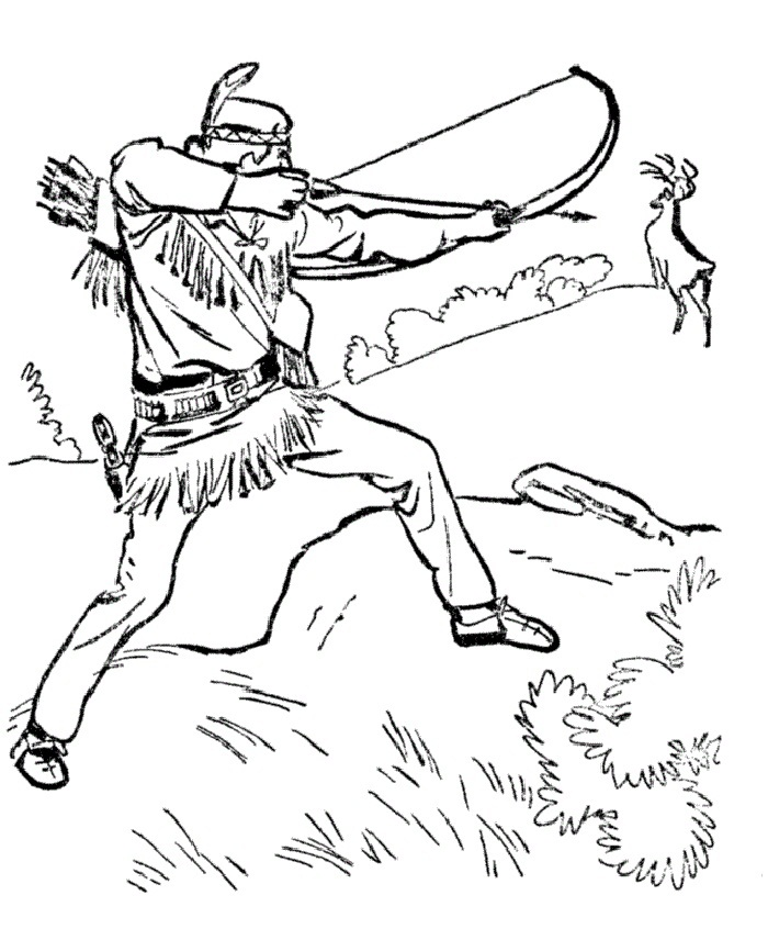 Deer Hunting Drawings Deer Hunting Coloring Pages