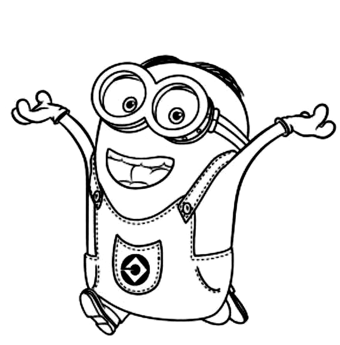 despicable me coloring pages printable - Free Cartoon Coloring Pages To Print