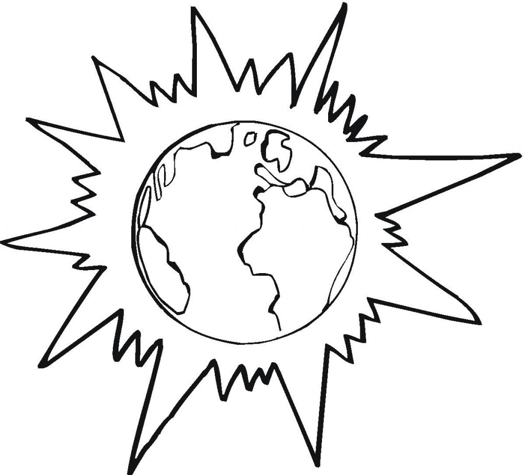 Coloring Pages Earth : Free printable earth coloring pages for kids