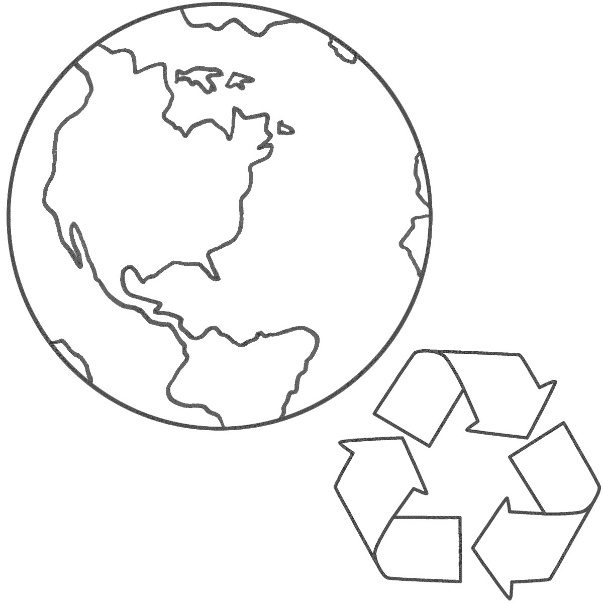 Free Printable Earth Coloring Pages