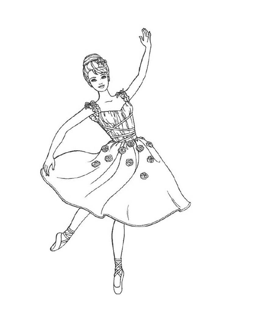ballerina designs coloring pages