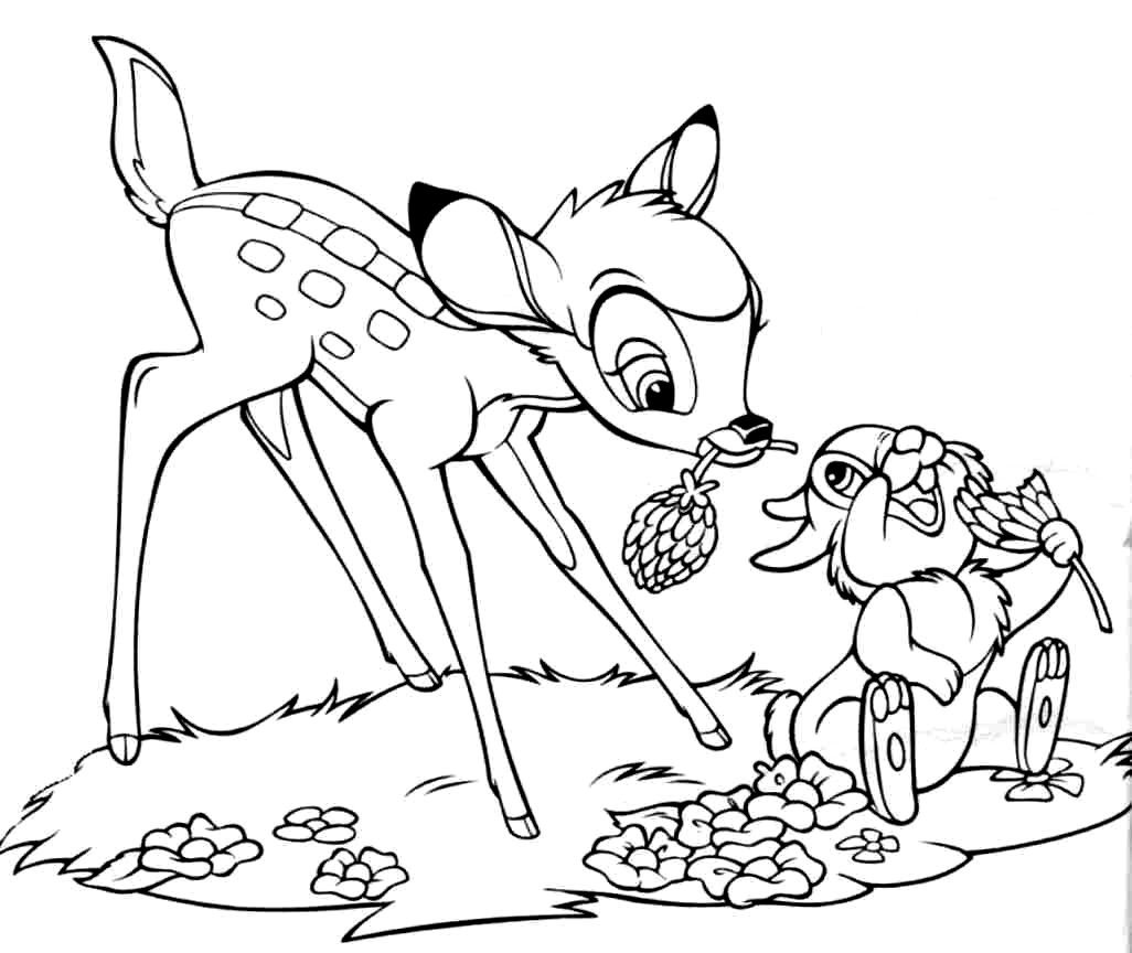 Free printable bambi coloring pages for kids for Coloring pages online