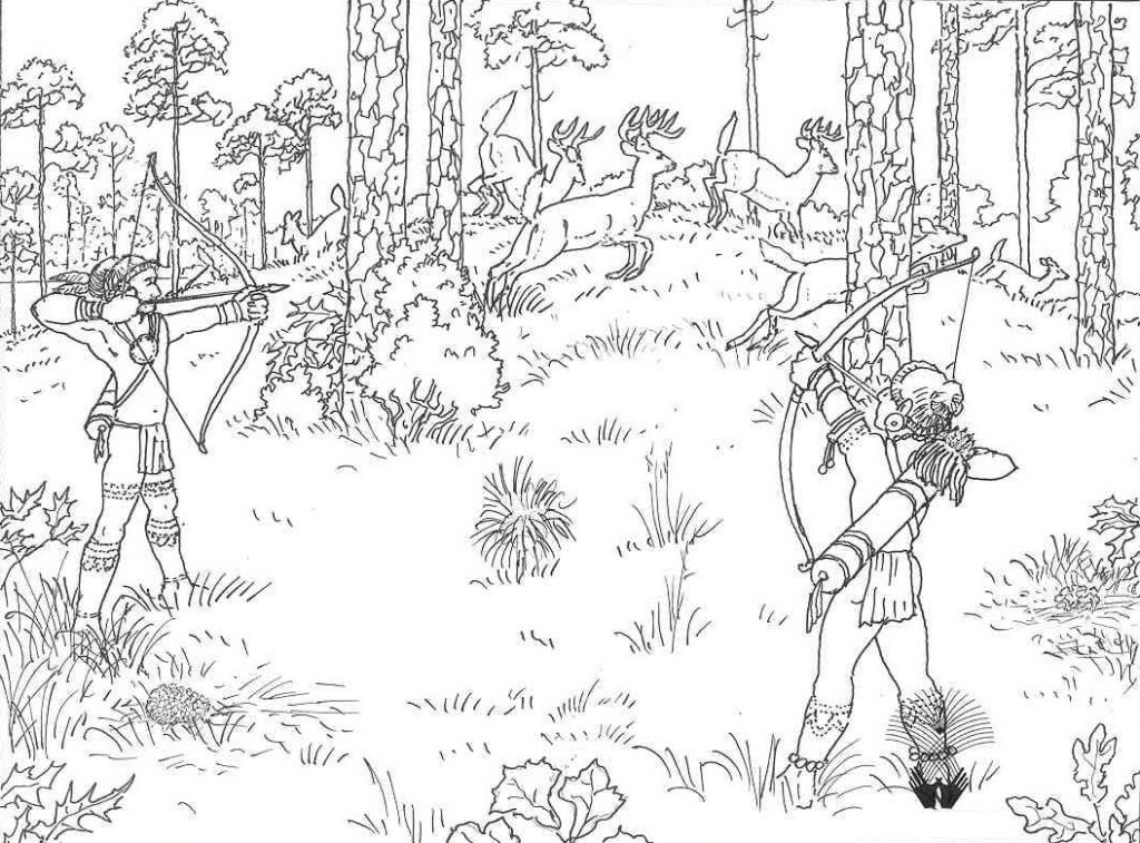 deer hunting coloring pages - deer hunting free colouring pages