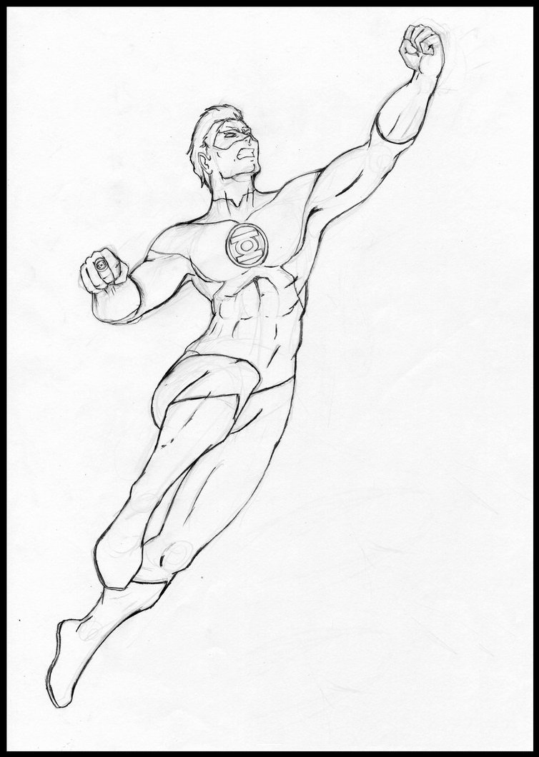 free printable green lantern coloring pages for kids