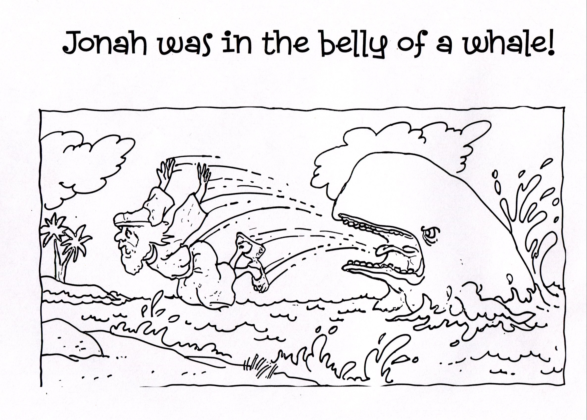 bible coloring pages jonah - photo#20