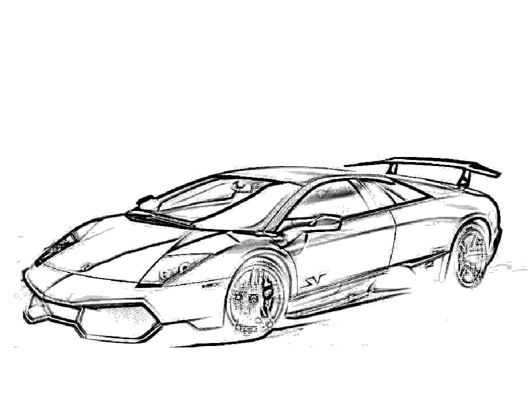 lamborghini coloring pages to print - Lamborghini Veneno Coloring Pages