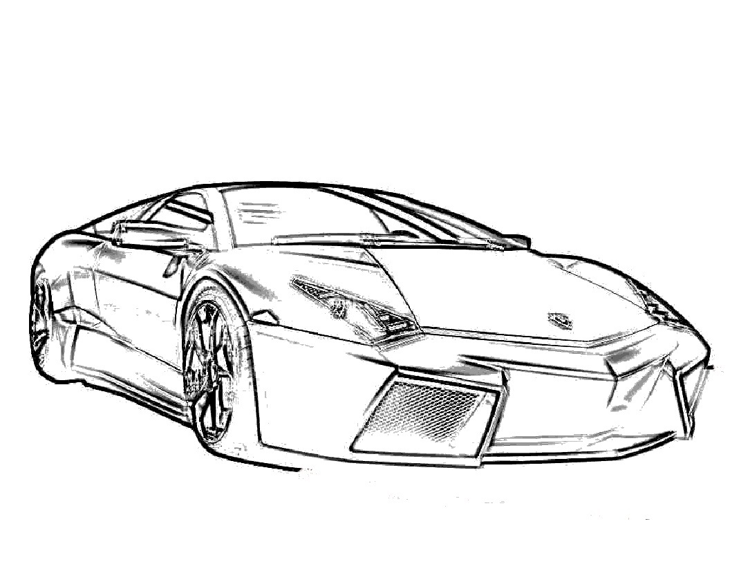 Free Coloring Pages Of A Car : Free printable lamborghini coloring pages for kids