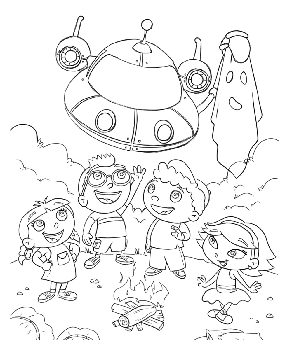 Little Einsteins Annie Coloring Pages Little Einsteins Coloring Page