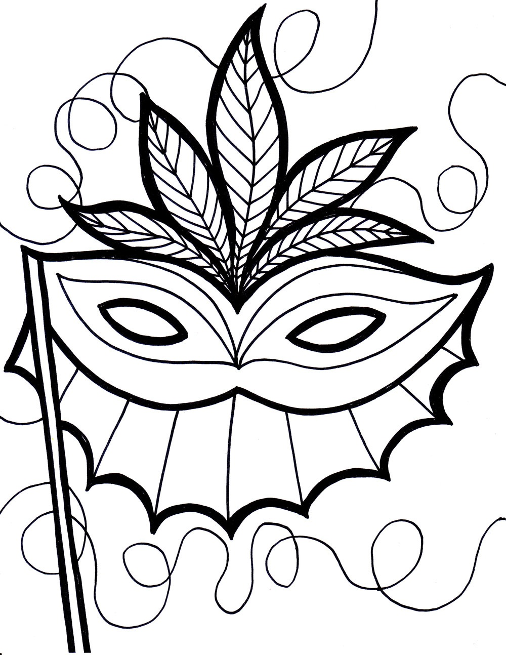 coloring pages mardi gras - photo#9